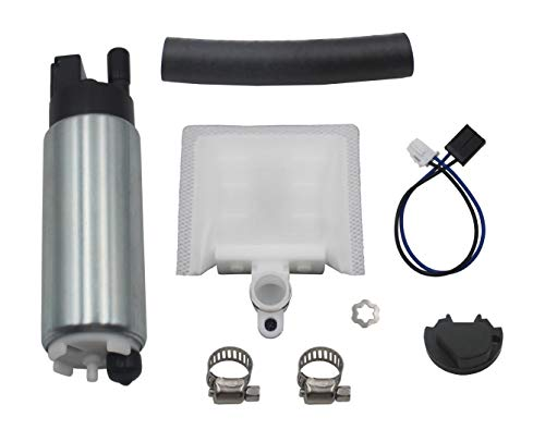 255LPH Fuel Pump #GSS342 With Install Kit #400-791 replace the part number GSS342,HFP-342, 11142, 11542, QFS-342FT, AEM 50-1205, for Subaru Forester 1997-2013/ Impreza 1994-2015/Legacy 1989-2009.
