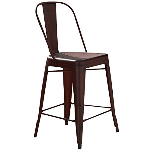 Liberty Furniture 179-B350524-R Vintage Dining Series Bow Back Counter Chair, Red -