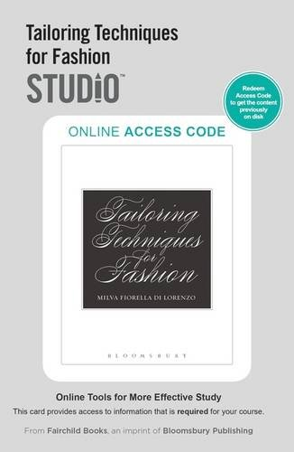 Tailoring Techniques for Fashion: Studio Access Card