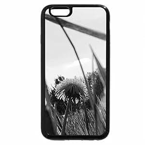 iPhone 6S Case, iPhone 6 Case (Black & White) - yellow dandelion