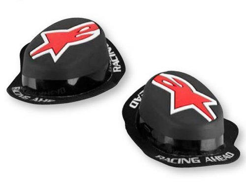 Alpinestars GP Rain Knee Sliders - One size fits most/Black/Red by Alpinestars