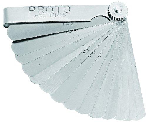 Stanley Proto J00MM15 15 Blade Metric Feeler Gauge ()