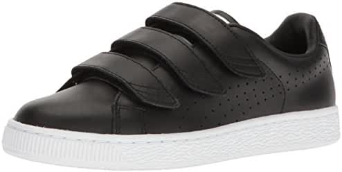 PUMA Men's Basket Classic Strap B&W Fashion Sneaker