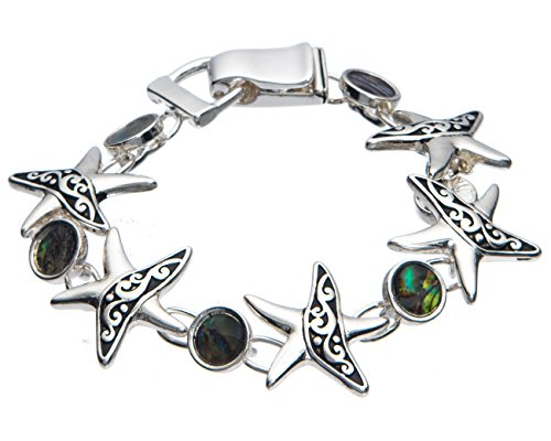 Starfish & Green Brown Abalone Shell Tennis (Abalone Green Bracelet)