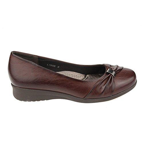 Aarz señoras de las mujeres de la tarde Comfort Shoes Casual partido Sandalias Tamaño (Negro, Marrón) Marrón