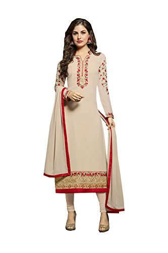Indian Georgette Ethnic Traditional Kameez Patywear In Da Facioun Salwar Light Anarkali Orange Biege Designer Light w6qIn5nA