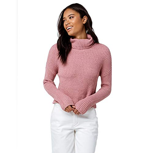 IVY & MAIN Chenille Pink Turtleneck Sweater, Pink, Large