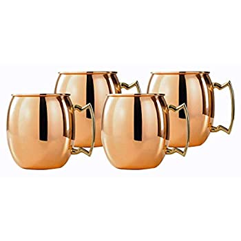 Image of Beer Mugs & Steins Madhu's COLLECTION mg décor Set of 4 Copper Beer Mugs