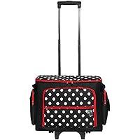 Prym–Aguja de máquina de Coser con Ruedas, diseño de Lunares, Negro/Rojo/Blanco