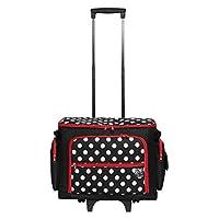 PRYM Nähmaschine Trolley Polka Dots, schwarz/rot/weiß