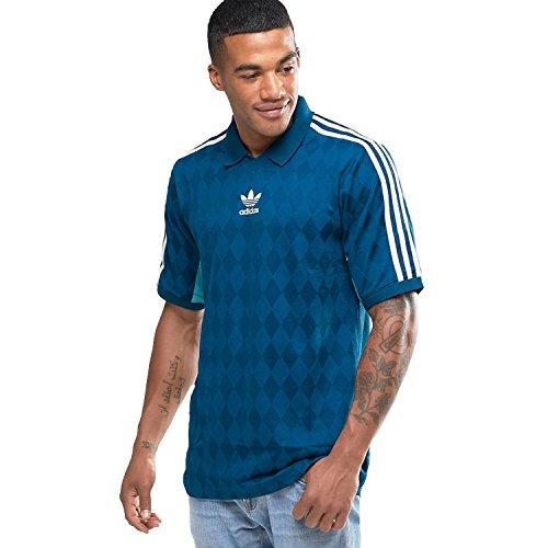 adidas Originals Men's 3 Stripe Tennis Jersey T-Shirt Blue - Original Logo Polo Us