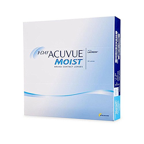 Acuvue 1 Day Moist Daily Contact Lens – 90 Pieces (-0.5)
