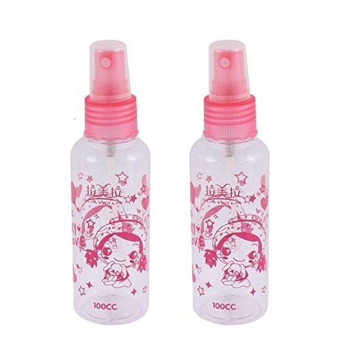 uxcell-Plastic-Cartoon-Patten-Make-Up-Liquid-Spray-Bottle-100ml-2pcs-Pink