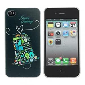 Christmas theme Bell Design Plastic Hard Back Case Cover For iPhone 4S
