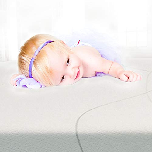 Wonder Dream Baby Crib Mattress and Toddler Mattress, Organic Cotton, 100% Breathable & Non Toxic, Water Repellent, Hypoallergenic, No Foam, No VOC's, Made in USA