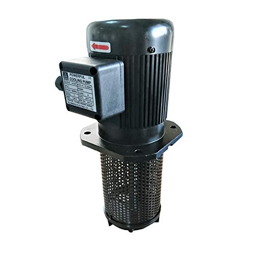 "1/4 HP Lathe BandSaw Machine Tool Circulation Coolant Pump, Immersion Length 200mm (8""), NPT 1/2"" Thread, Single 1 Phase 110/220V"