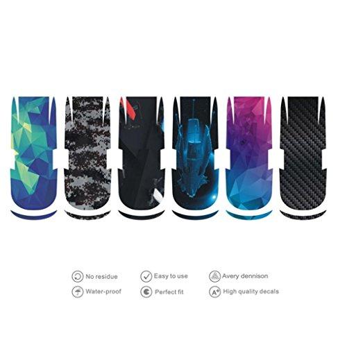(For DJI SPARK Accessories,GBSELL 6pc Luxury Carbon Fiber Skin Wrap Waterproof Stickers)