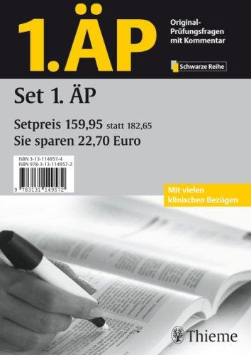 1.ÄP - Set aller 7 Fachbände (Prüfungsfragen mit Kommentar zur 1. Ärztlichen Prüfung): Anatomie/Biochemie/Biologie/Chemie für Mediziner/./Physik für Mediziner/Physiologie