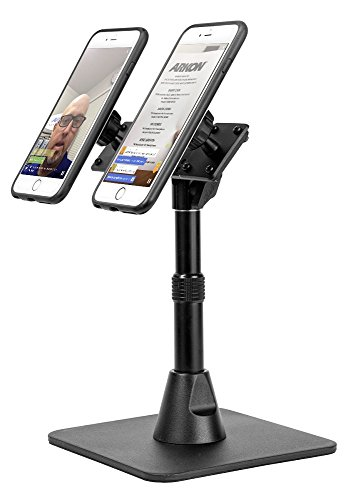 Arkon TW Broadcaster Pro Dual Phone Magnetic Mount Desk Stand Black