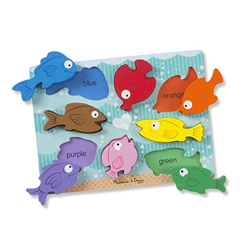 Melissa & Doug Colorful Fish Wooden Chunky Puzzle (8 pcs)