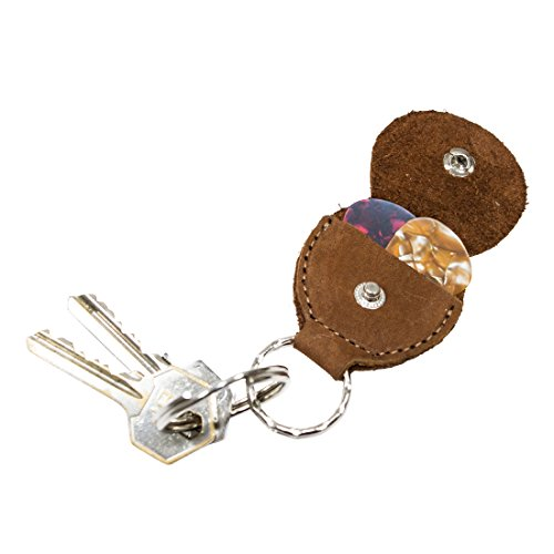 Rustic Leather Guitar Pick Holder Key Chain Handmade by Hide  Drink :: Swayze Suede