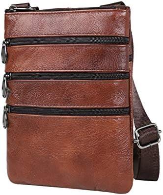 メンズ PUレザー クロスボディバッグ ショルダーバッグ マルチポケット 財布 調節可能
