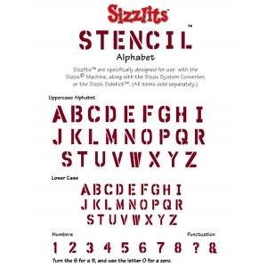 Sizzlit Stencil Alphabet Die Set (Sizzlit Alphabet Set)