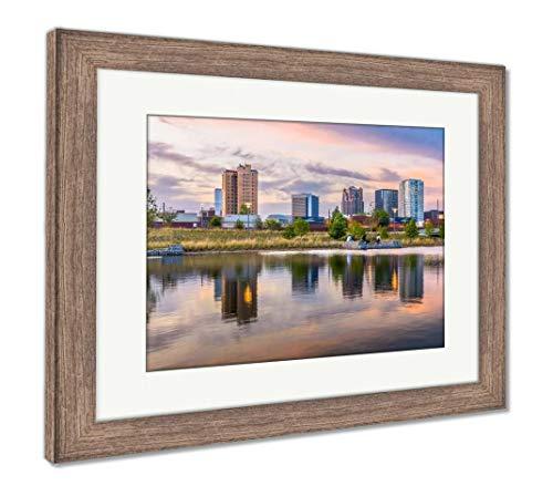 (Ashley Framed Prints Birmingham, Alabama, USA Downtown City Skyline, Wall Art Home Decoration, Color, 26x30 (Frame Size), Rustic Barn Wood Frame, AG32675570)