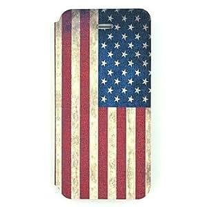 ZCL- el caso de cuerpo completo patrón de nosotros bandera de la PU de cuero para el iphone 5 / 5s