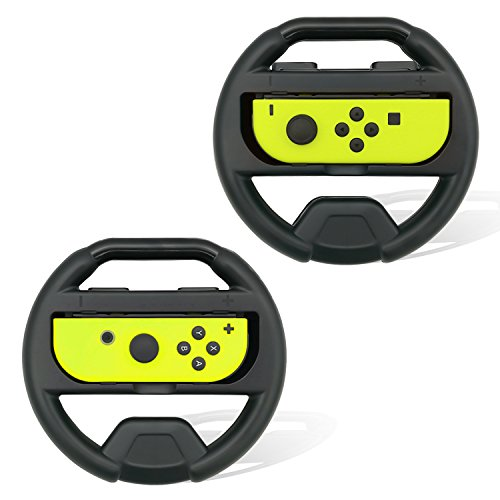 Cheap Wheel for Nintendo Switch Joy-Con,FYOUNG Steering Wheel for Nintendo Switch Racing Games(Set of 2) – Black and Black