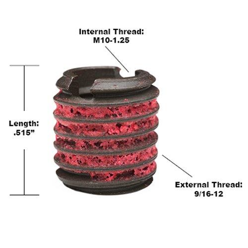 Steel Black Oxide E-Z LOK EZ-650-10F Threaded Inserts for Metal M10-1.25 Installation Kit