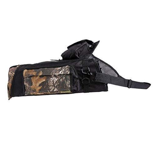 Gazechimp Pfeilköcher: Outdoor Bogenschießen Köcher Tasche, Wald Jagd Training Pfeil Halter Tasche mit verstellbaren Schulterriemen