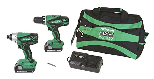 Hitachi-KC18DGL-18V-Lithium-Ion-Driver-Drill-and-Impact-Driver-Combo-Kit