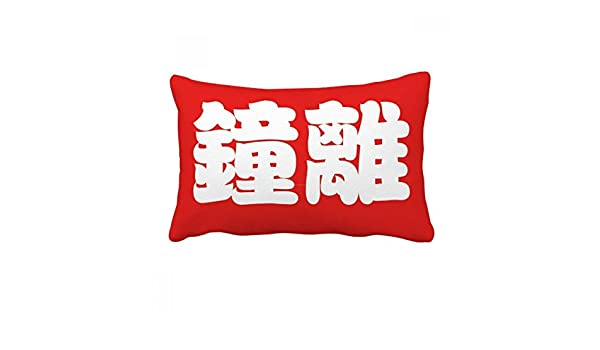 Amazon com: DIYthinker Zhongli Chinese Surname Character China Throw