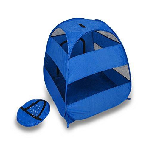 Pet Shelters Pop Up : Blue portable pop up pet tent medium large dogs cats