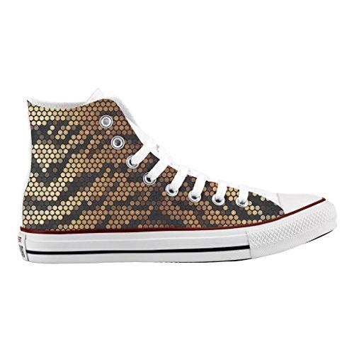 artesanía Pixel zapatos Personalizados e impresos tiger Converse de CaqAA1