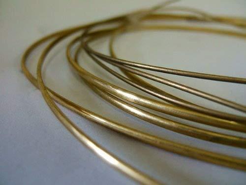 """Brass Half Round (1.5mm) 1/16"""" Maidstone Engineering"""