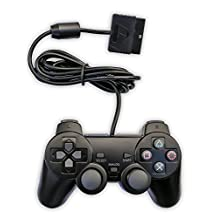 Bowink Wired Gaming Controller for Ps2 Double Shock - Black
