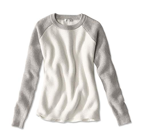 Orvis Women's Homecoming Colorblock Sweater, Natural, Medium