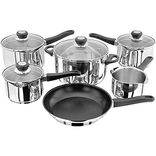 Judge Vista J3H1 6 Piece Draining Saucepan Set, Induction Ready