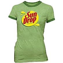 Sun Drop Citrus Soda Green Costume Juniors T-shirt Tee