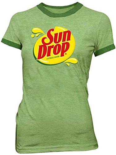Sun Drop Citrus Soda Green Costume Juniors T-shirt Tee (Juniors -