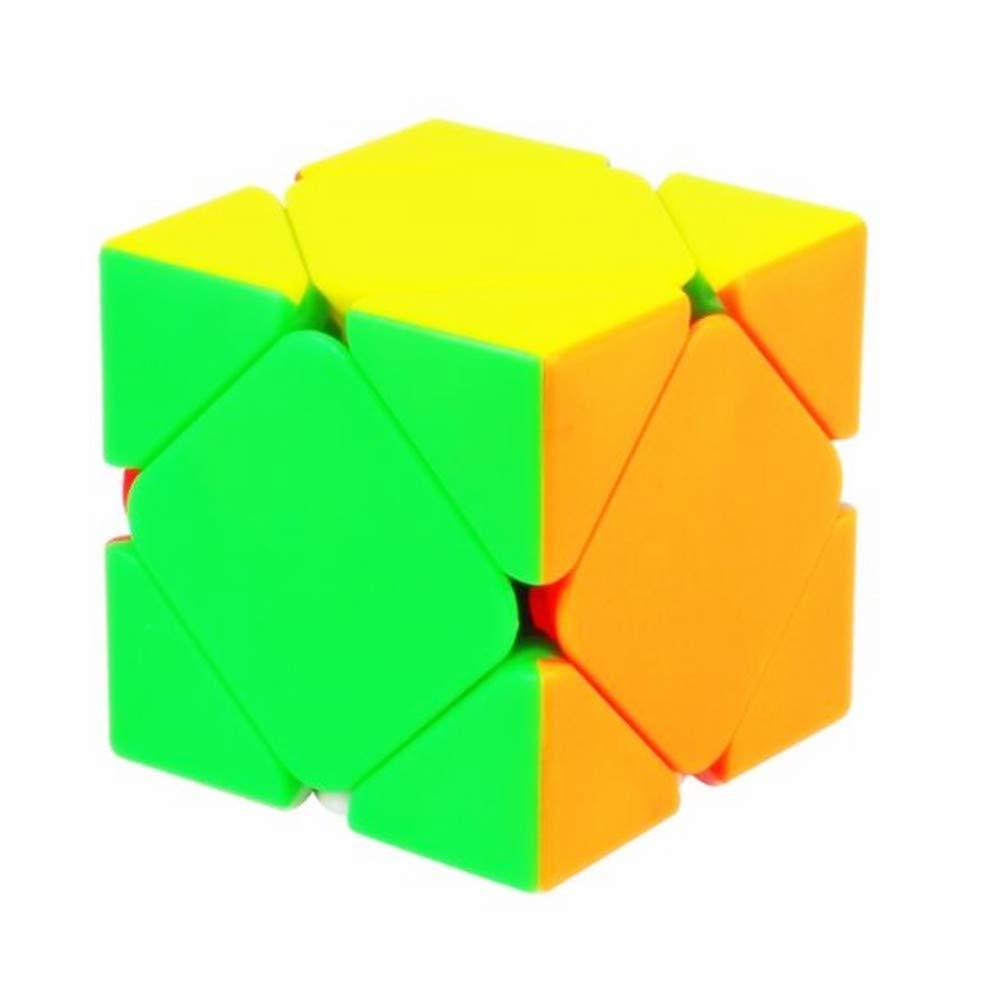 CuberSpeed Skewb Stickerless Magic Cube Skewb Stickerless Speed cube Puzzle Toys for Kids QIYI
