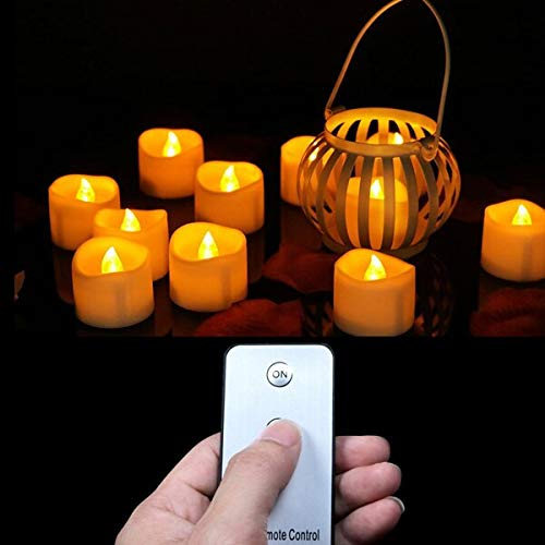 - Scented Candles Pack Of 12 Or 24 Battery Votive Candles With Remote,remote Led Candles,small Tea Lights,party Candles,electronic Candles Remote