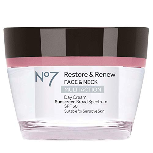 Boots No7 Restore and Renew Day Cream, SPF 30 1.69 Ounce    (Boots No 7 Face Cream For Mature Skin)