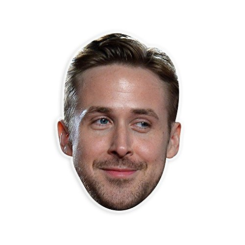 Excited Ryan Gosling Mask - Perfect for Halloween, Masquerade, Parties, Events, Festivals, Concerts - Jumbo Size (Celebrity Halloween Masks)