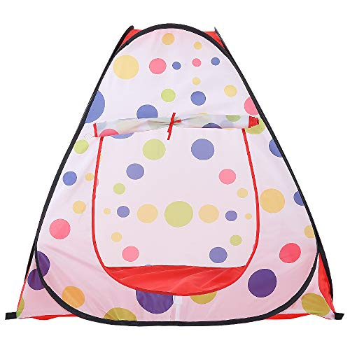Sviper Kids Play Tunnels Kids Play Tent Polka Dot Pattern Indoor Toys Children Playhouse Portbale Pop Up Tunnel Gift Toy by Sviper (Image #3)