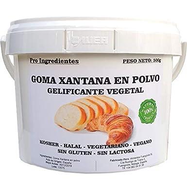 Goma Xantana en Polvo 500g - Gelificante Vegetal: Amazon.es: Alimentación y bebidas