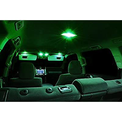 XtremeVision Interior LED for Dodge Dart 2015+ (10 Pieces) Green Interior LED Kit + Installation Tool: Automotive