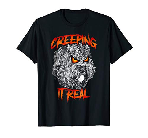 Creeping it real Bouvier des Flandres Scary Halloween Shirt -